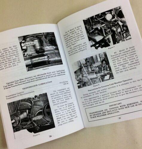 Heavy Equipment Parts & Accessories JI CASE D TRACTOR OPERATORS ...