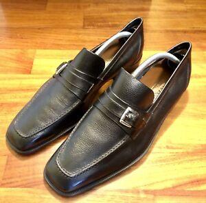 sports shoes 3be3a 83edc Dettagli su ALEXANDER MILANO SCARPE UOMO ELEGANTI ABITO PELLE NERE 7 1/2  MATRIMONIO