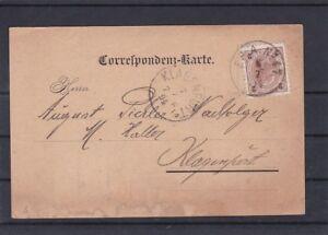 1894 Versandbestätigung mit Stempel Fahrendes Postamt  Nr. 47 gel. Klagenfurt