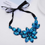 Fashion-Women-Rhinestone-Crystal-Choker-Bib-Statement-Pendant-Necklace-Chain-Set thumbnail 17