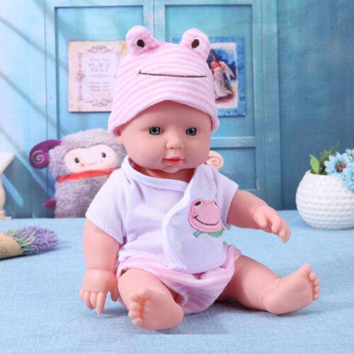 12 Inch Full Body Soft Vinyl Silicone Real Lifelike Toddler Baby Girls Dolls USA