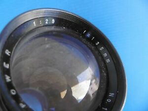 OBJECTIF - LENS - POWER - 1:2,8 - F=135 mm - MADE IN JAPAN - PHOTO - ARGENTIQUE