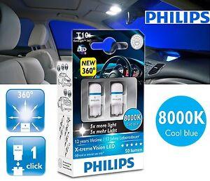 philips w5w t10 led xtreme vision 360 8000k 127998000kx2 led blue. Black Bedroom Furniture Sets. Home Design Ideas