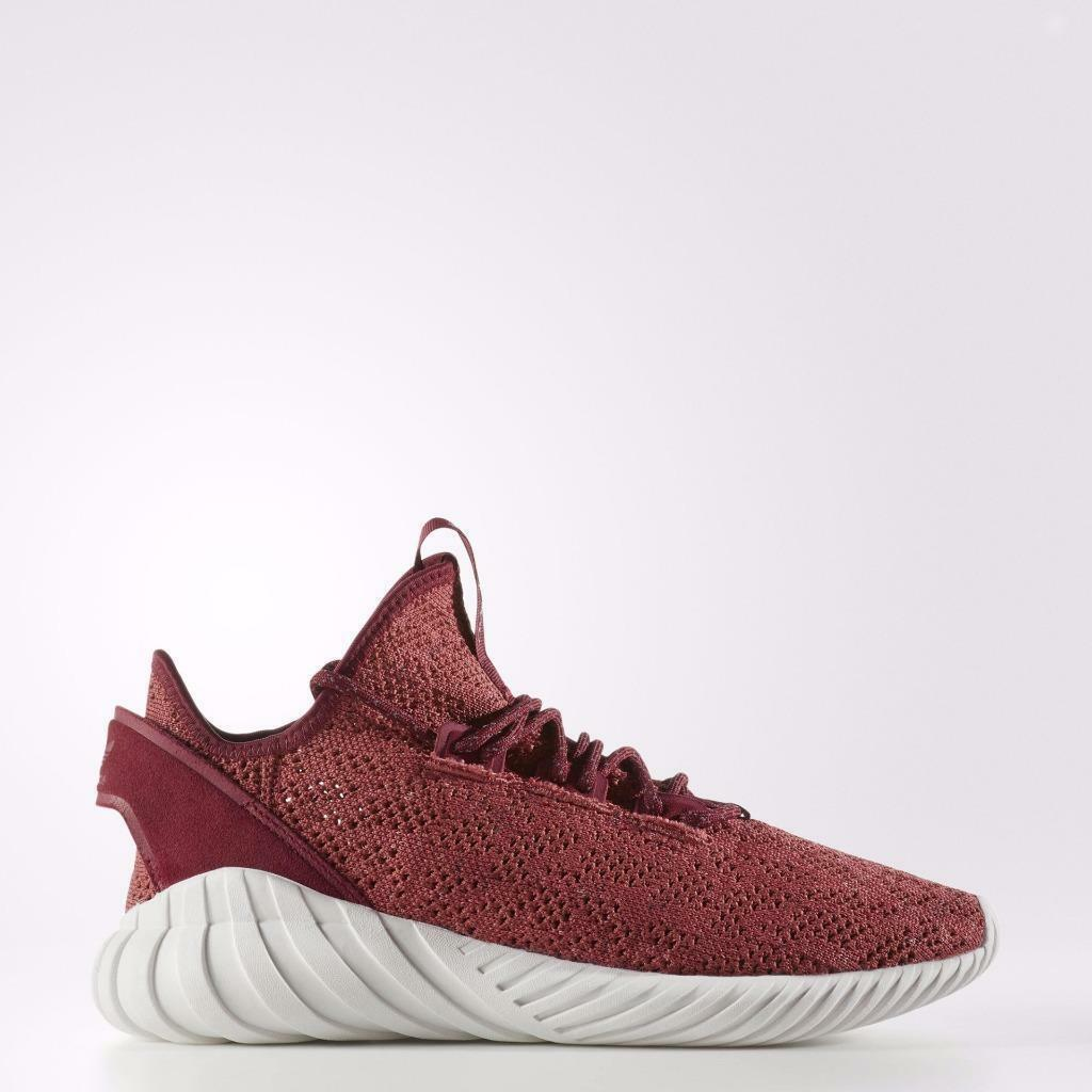 {BY3560} MEN'S ADIDAS ORIGINALS TUBULAR DOOM SOCK PK RED/BURGUNDY/WHITE *NEW!*