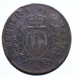 1869 San Marino Five 5 Centesimi - Lot 2020