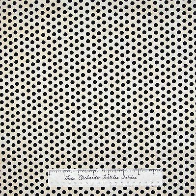 "Christmas Fabric - Holiday Dreams Black & Off White 1/4"" Polka Dot - RJR 29"""