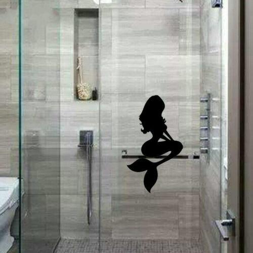 Bathroom Shower Glass Wall Stickers Decorated Mermaid VInyl Decals Art Decor