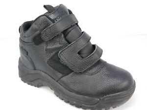 Propet-CLIFF-WALKER-MPRX85-Men-s-Black-Leather-Comfort-Boots-Straps-Size-8-M
