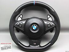 BMW E60 M5 E63 M6 E64 M6 SMG 3M Ring Alcantara Flat Bottom CARBON Steering WHEEL