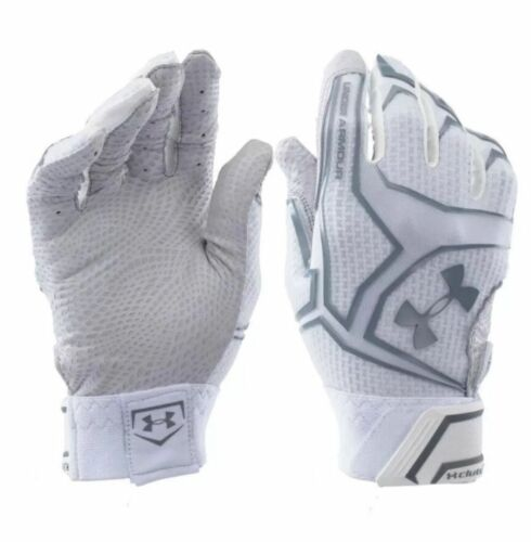 UA Under Armour Yard Clutchfit Men/'s Batting Gloves White 1265933 100