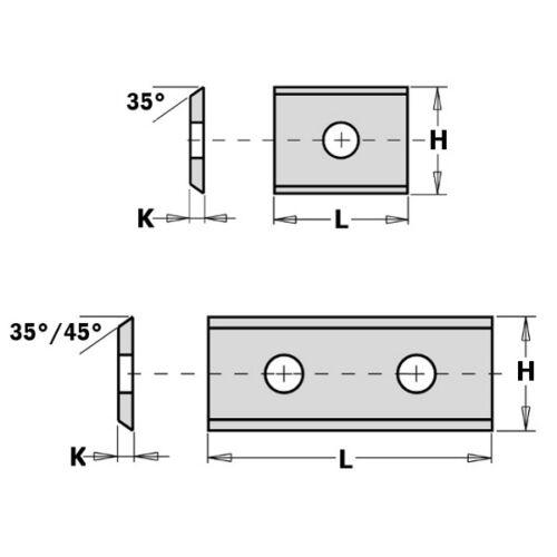 conf.10 pezzi CMT Coltellini reversibili in HWM 2 taglienti 35° 790