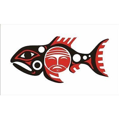 Fahne Flagge Chinook Nation 100 x 150 cm Bootsflagge Premiumqualität