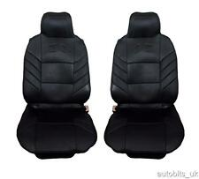 FRONT BLACK CUSHION PADDED SEAT COVERS FOR RENAULT CLIO MEGANE MPV LAGUNA SCENIC
