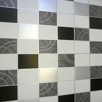 Dotty Black Silver Tile N Vinyl