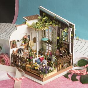 Rolife-Fairy-Garden-Doll-House-DIY-Wooden-Miniature-Furniture-LED-Gift-for-Girls