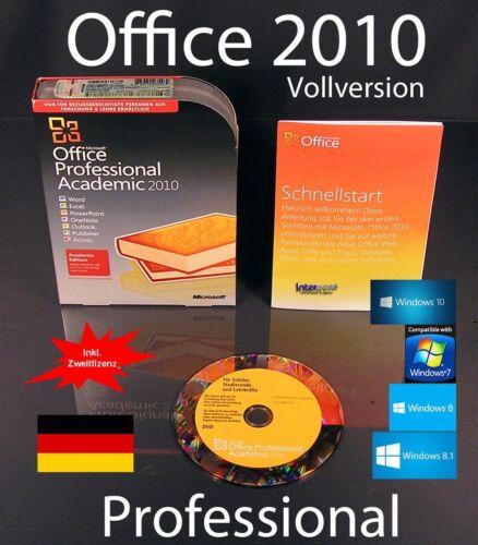 1 von 1 - Microsoft Office Professional 2010 Vollversion Box EDU Zweitinstallation OVP NEU