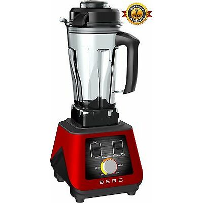 BERG 1500W 2HP COMMERCIAL FOOD BLENDER SMOOTHIE MAKER ICE CRUSH RRP £299 - RED