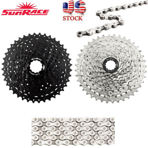 SunRace 9 Speed 11-40T Cassette MTB Bike X9.93 Bicycle Chain fit Shimano SRAM