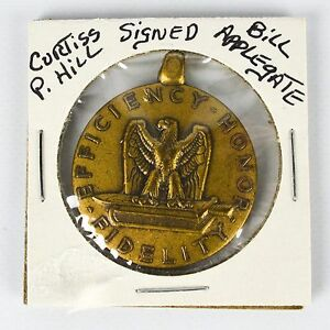 Signed-WWII-US-Military-Good-Conduct-Medal-Fidelity-Honor-Efficiency-Eagle