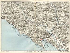 1924 Muirhead Antique Map Italy Levanto Spezia Ebay