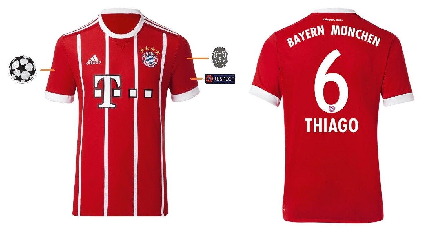 Trikot FC Bayern 2017-2018 Home UCL - Thiago 6  Champions League