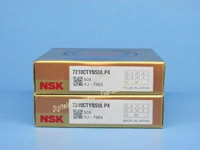 2 NSK 7210CTYNSULP4 Abec7 Super Precision Spindle Bearings matched set new.
