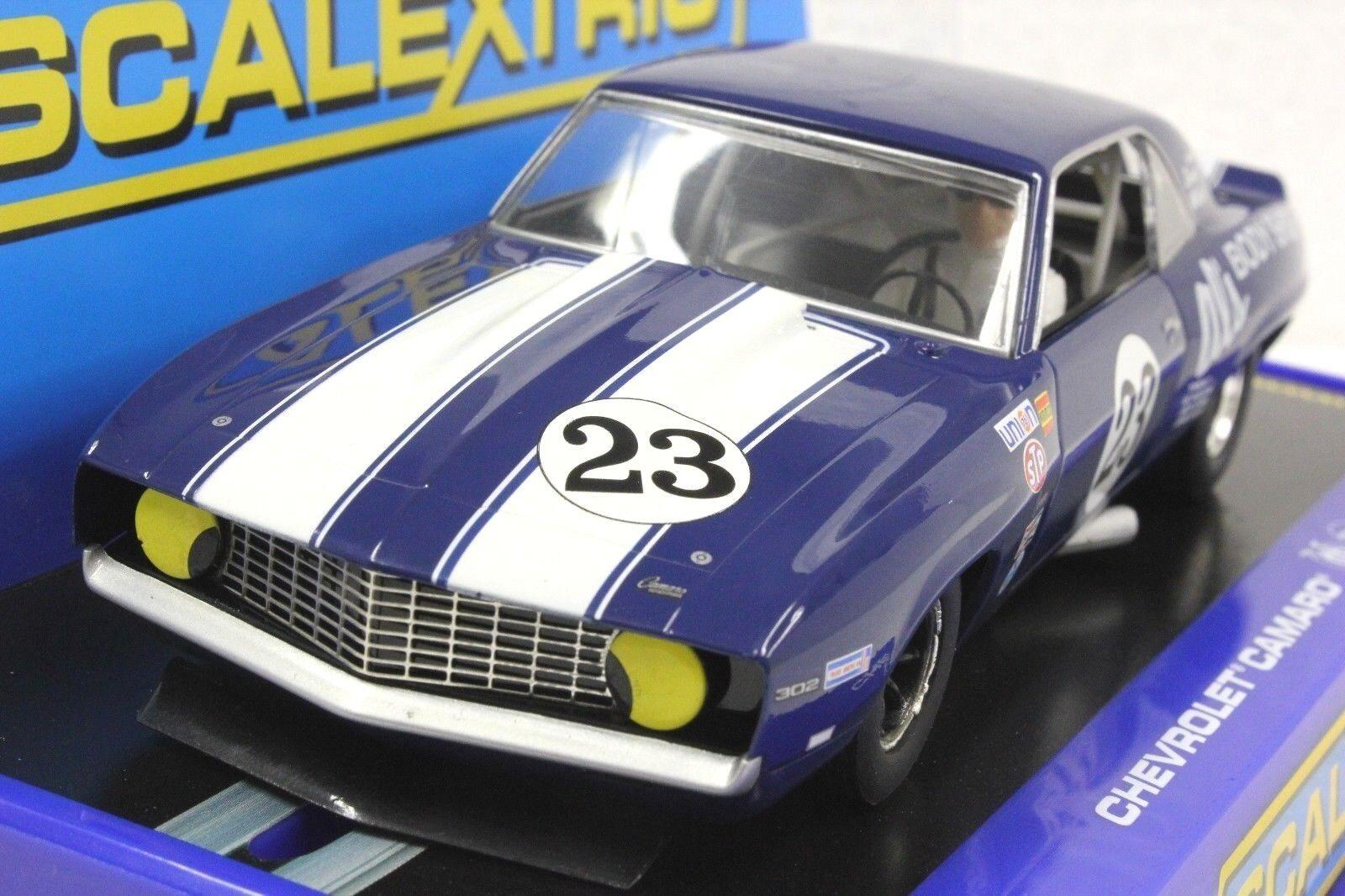 Scalextric C3532'69 Chevrolet Camaro Z28 Trans Am,  23 1 32 SLOT CAR  RMR