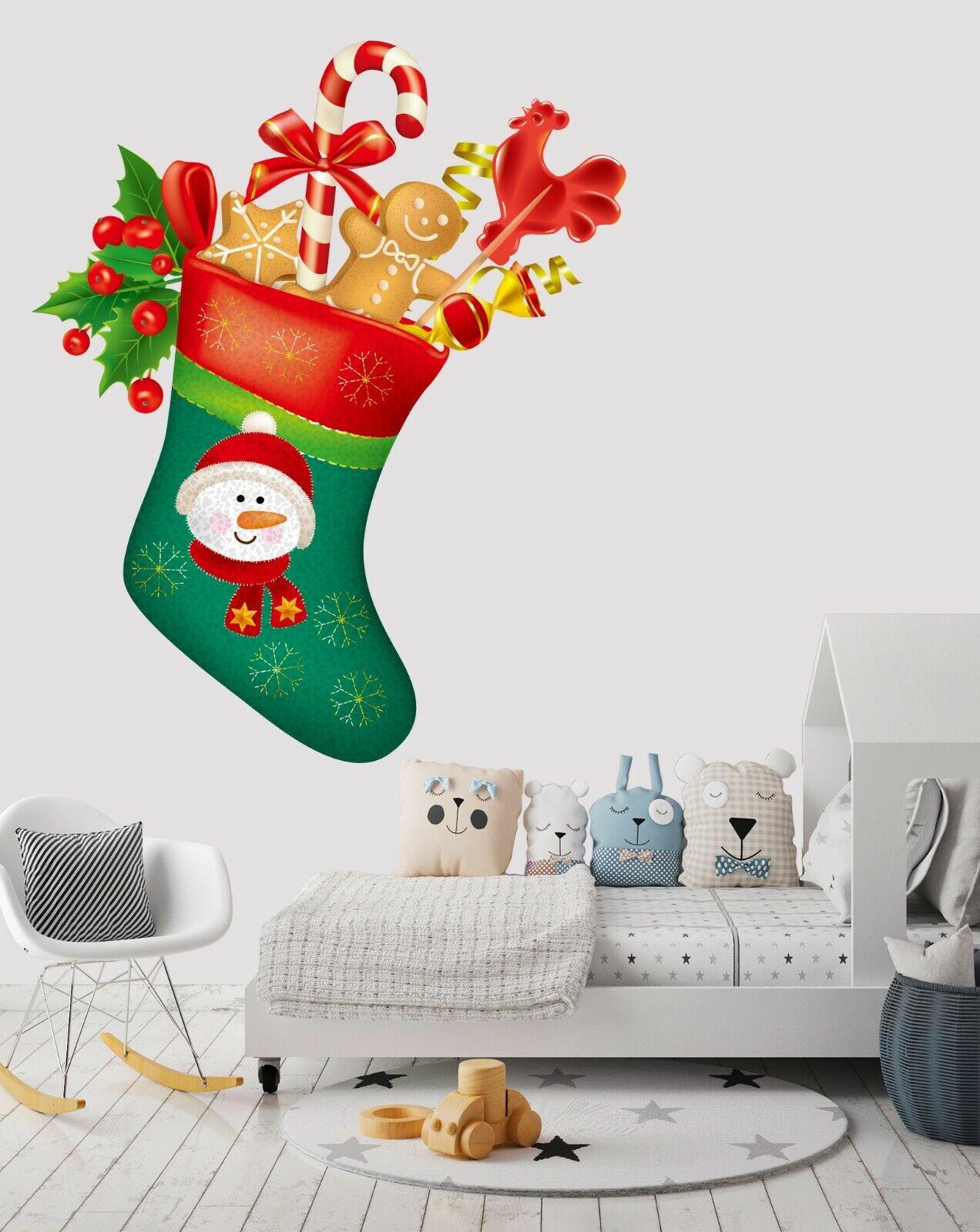 3D Socks Gift I428 Christmas Wallpaper Murals Wall Print Decal Wall Sticker Amy