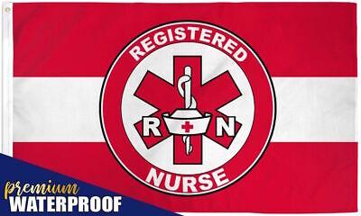 "2 x /""REGISTERED NURSE/"" flag 3x5 ft poly premium waterproof rn"
