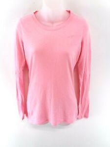 Haut-femme-HOLLISTER-Manches-Longues-T-Shirt-Top-S-petit-en-coton-rose-amp-Polyester