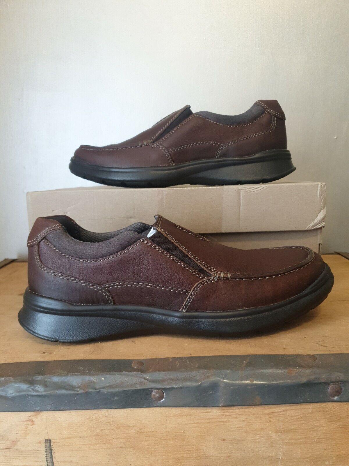 Clarks Mens leather cottrel slip shoe in Tobacco size 6 new in box