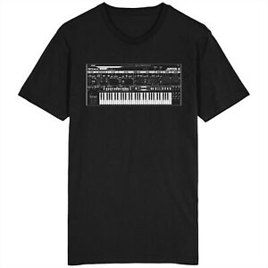 Roland Jupiter T Shirt synthétiseur analogique SYNT Retro 303 909 MOOG