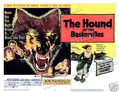 THE HOUND OF THE BASKERVILLES LOBBY TITLE CARD POSTER 1959 SHERLOCK HOLMES