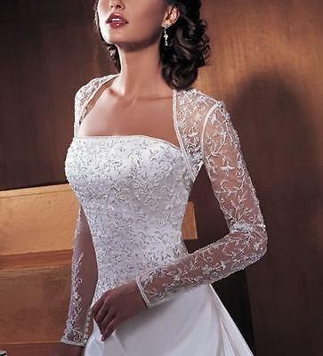 Long Sleeve  Wedding Dress Evening Dress Bridal Gown 6-8-10-12-14-16-18-20-22+