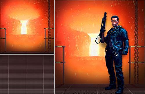 sorteos de estadio Telón de de de fondo de Cochetel se envía enrollado   Terminator Forge para 1 6 HOT TOYS figura T-800 DX13  Seleccione de las marcas más nuevas como