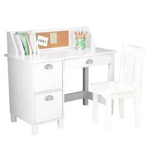 Kidkraft 26704 Study Desk With Drawers White