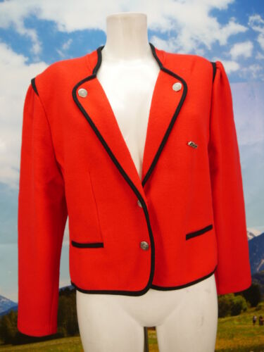 42 Mint cardigan Red Giacca Traditional Litza e Giacca corta Gr Blazer leggera aXnwdP