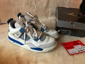 buy online 14bc5 48697 Image is loading 2006-Nike-Air-Jordan-IV-4-Retro-WHITE-