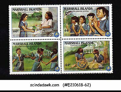 2019 Nieuwste Ontwerp Marshall Islands - 1986 20th Anniversary Of Girl Scouts Se-tenant 4v Mnh Snelle Warmteafvoer
