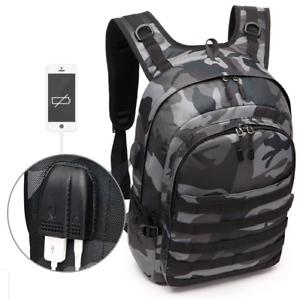 Best pubg Sac à dos mochila pubg niveau 3 Toile USB Casque Jack back bag.