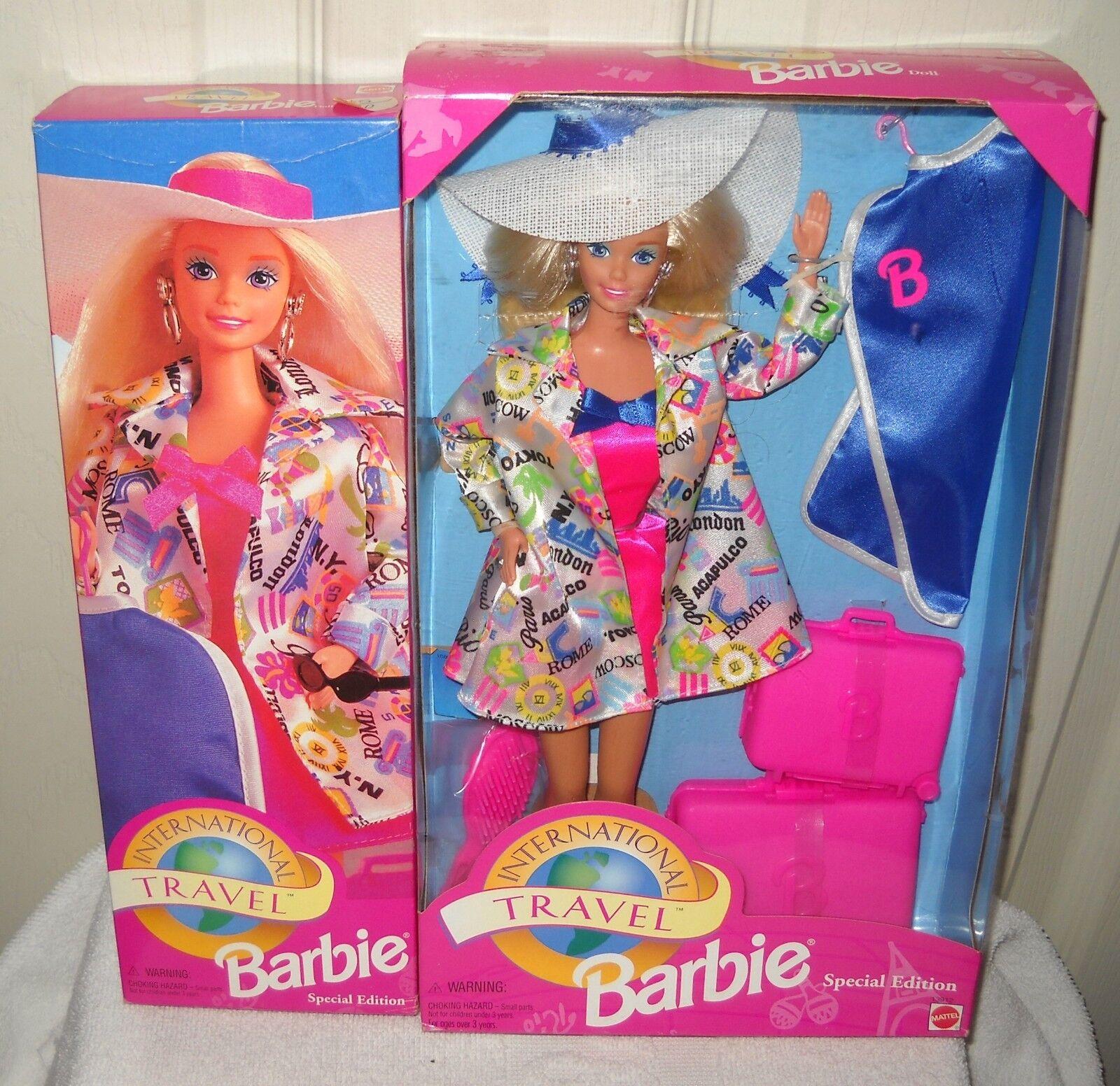 Nunca quitado de la Caja Mattel wessco International Travel Barbie en vuelo & tienda libre de impuestos