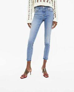 Us jeans brut Zara Eu 34 léger délavage Woman ourlet 2 extensible super Jeans skinny WZn7avUI
