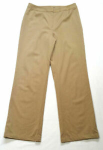Lafayette 148 Women Size 6 Brown Straight Dress Pants Trouser Slacks Wool Blend