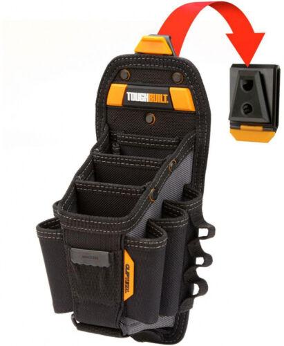 Black TOUGHBUILT 6.25 in 15-Compartment Large Technician 10-Pocket Pouch
