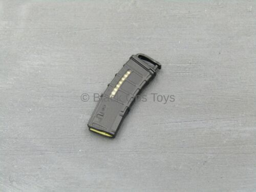 1//6 Scale Toy 5.56 AR 30 Round Ammo fenêtre Mag avec MAG Pull Noir