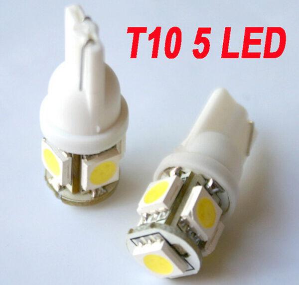 10 Stück LED T10 w5w 5x5050 smd Xenon weiß Auto Innenraum Beleuchtung Lese Lampe