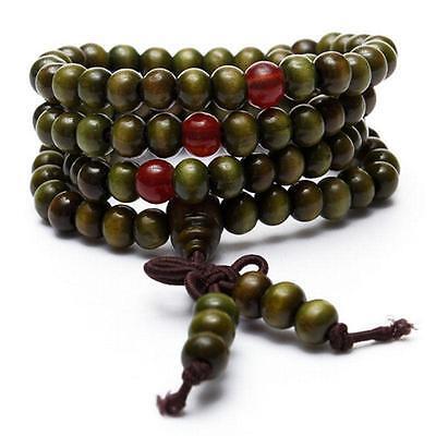 Women Men Buddhist Sandalwood Meditation Prayer Bead Bracelet/Necklace XMAS GIFT