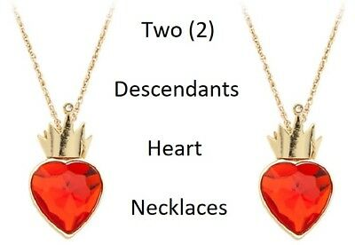 Disney Descendants Movie Evie S Red Heart Necklace You Get 2 New Ebay