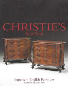 Christie S Important English Furniture Auction Catalog April 2000 Ebay