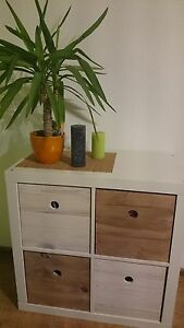 box f r ikea expedit kallax aufbewahrung shabby chic paletten holz kiste ebay. Black Bedroom Furniture Sets. Home Design Ideas